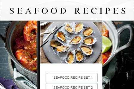 Seafood recipes screenshot 0
