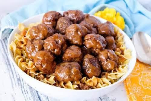 """Salisbury Steak Meatballs """"One of my family's favorite meals! A twist on..."""