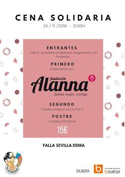 Sevilla - Dénia celebrará una cena solidaria a favor de la Asociación Alanna.
