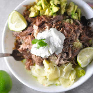 Low Carb Carnitas Burrito Bowl