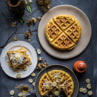 Coconut cereal Belgian waffles (4 waffles).