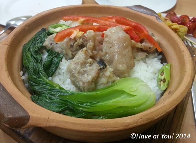 tausi spareribs claypot rice