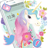 Rainbow Unicorn Theme,Cute Pink Rose Wallpaper