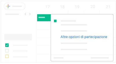 Altre opzioni di partecipazione dal Web