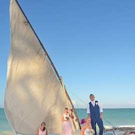 Wedding Party by Andrew Morgan - Wedding Groups ( bridesmaids, zanzibar, wedding, beach, boat, bride, groom )