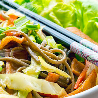 Soba with Braised Spring Vegetables