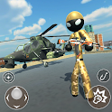 US Army Stickman Counter Rope Hero 3D icon