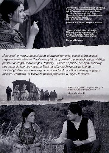 Tył ulotki filmu 'Papusza'