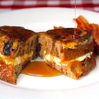 Georgestown Orange and Cream Cheese Stuffed French Toast with Maple Cointreau Syrup