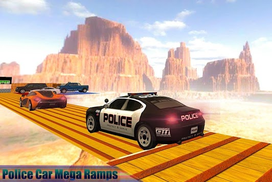 Mega Ramp Police Car Racing: Impossible Stunts