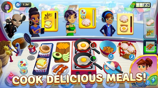 Diner DASH Adventures MOD Apk 1.13.2 (Unlimited Coins/Hearts) 1