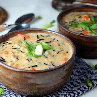 Creamy Chicken Wild Rice Soup {Dairy-Free}.