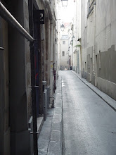 Photo: Here, at the end of the narrow Rue de Nevers, is a stuccoed-over portion of the inside of the Wall.