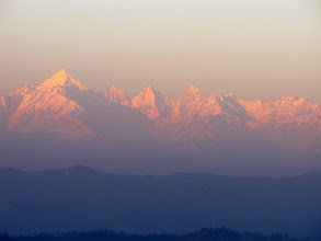 Photo: Misty dusk on Panchachuli