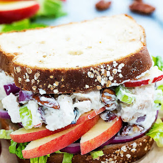 Lighter Apple Pecan Chicken Salad
