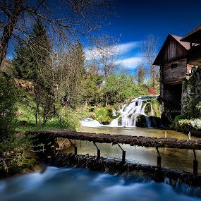 Old mill by Zarko Piljak - Landscapes Waterscapes ( mill, .croatia, rastoke, colors, spring, river )