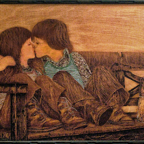 Wood burning art by NGOCTIEN Saigon1979 by Tran Ngoc Phuc Ngoctiendesign - Drawing All Drawing (  )