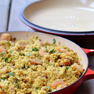 Spicy Moroccan Couscous with Chorizo and Prawns