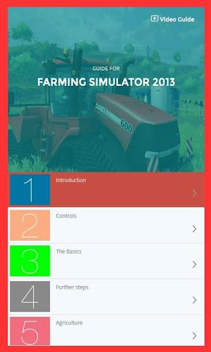 Guide for Farming Simulator 13