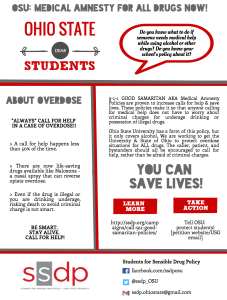 Good Samaritan Flyer developed by Cassie Young of Ohio State University