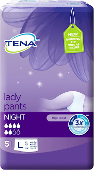 Tena Lady Pants - Night, Pack of 5, Large