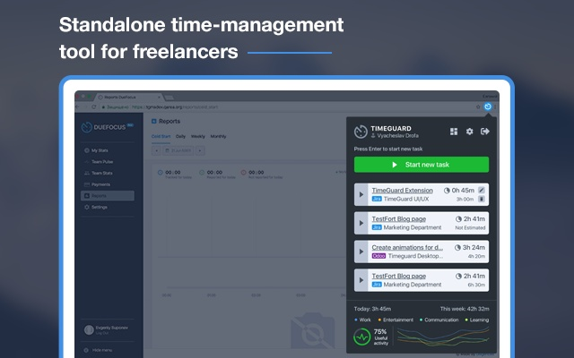 DueFocus - Time Tracking and Self Management