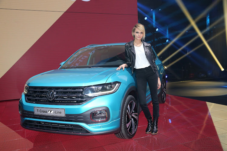 Actress Cara Delevingne unveiled the new Volkswagen T-Cross