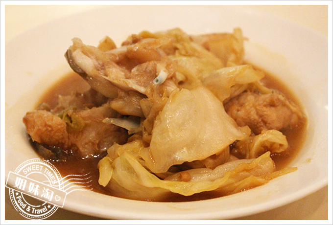 蟳之屋 酸高麗菜炒石老魚頭(2人)$320元