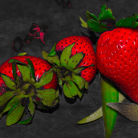 Red red red by Raymond Fitzgerald - Food & Drink Fruits & Vegetables ( red, colour, selective color, fruit, strawberry )