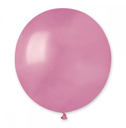 Ballonger helrunda 48 cm, rosa metallic
