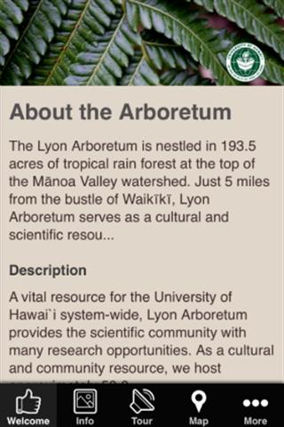 Lyon Arboretum Mobile App