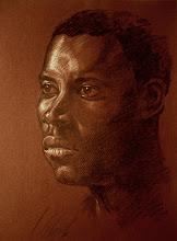 Photo: retrato en lápiz carboncillo
