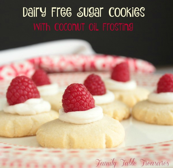 Dairy Free Sugar Cookies {with Coconut Oil Frosting} Recipe