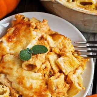 Creamy Pumpkin Pasta Bake.