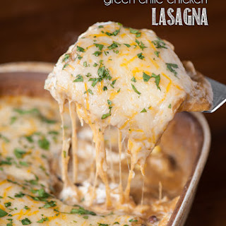 Cheesy Green Chile Chicken Lasagna
