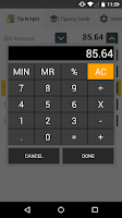 Screenshot of Tip N Split Tip Calculator