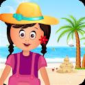 Family beach Trip Kids Game icon