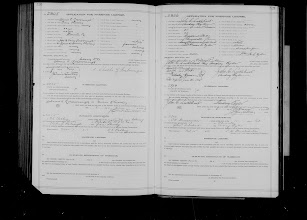 Photo: Marriage Application for Grace Sheasley and Charles Rosborough