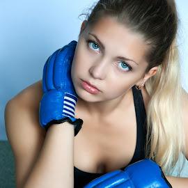 by Sergey Kuznetsov - People Portraits of Women ( beauty, boxing, model, girl, sport )
