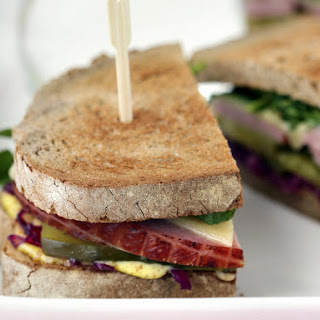 Ham Sandwich with Red Cabbage Relish