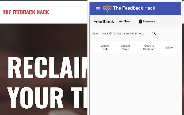 The Feedback Hack Extension