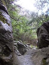 Photo: le roc a pâti de la lente et patiente érosion de l'eau
