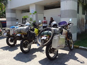 Photo: It was a great pleasure to meet Mark & Sanne in Krabi, Thailand. They are doing a round the world trip on Suzuki DR-Z 400 and have been travelling for about 8 months already (www.handfulofthrottle.blogspot.com).