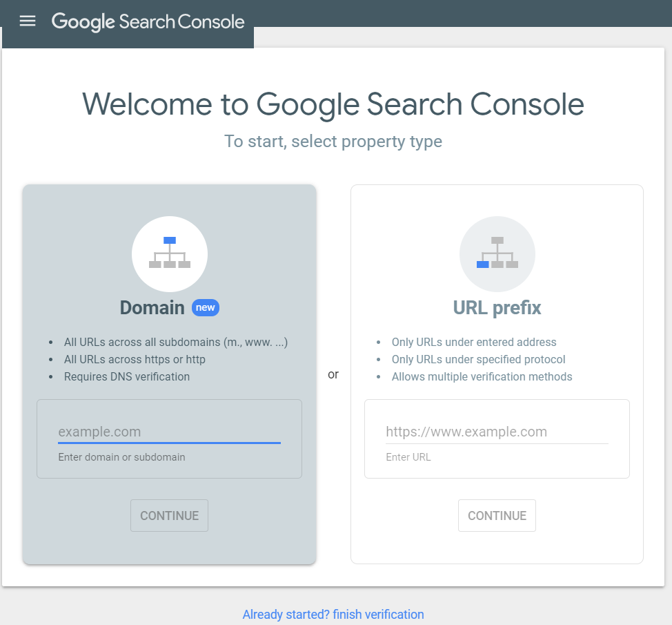 The first image of instructions on how to use Google Search Console.
