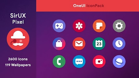 SirUX Pixel for OneUI - Icon Pack APK screenshot thumbnail 1