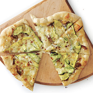 Zucchini and Caramelized Onion Pizza