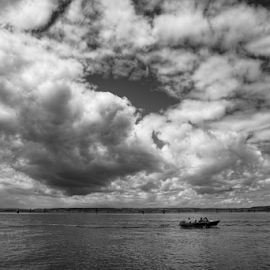 Jetty Island  by Todd Reynolds - Black & White Landscapes