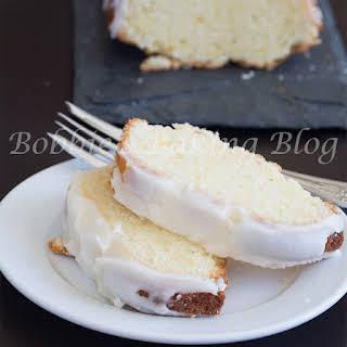 White Chocolate Chunk Blood Orange Pound Cake.