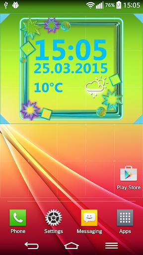 Neon Digital Weather Clock