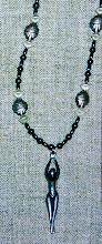 Photo: Great Goddess Protectress pendant, hematite, silver plate, base metal  SOLD/ПРОДАНИЙ